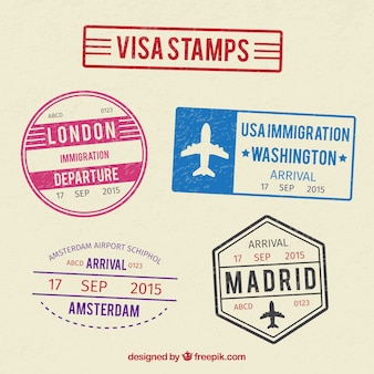 Collection of visa stamps