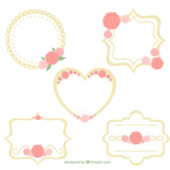 Collection of wedding frames with different designs