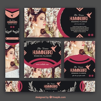 Collection of wedding planner banner