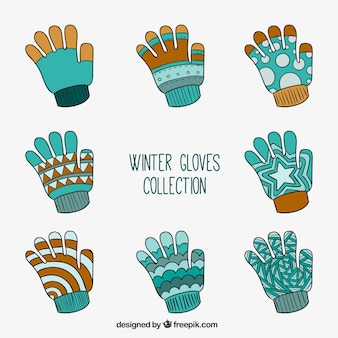 Collection of winter gloves
