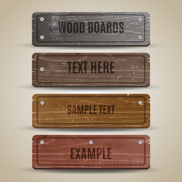 Collection of wooden board