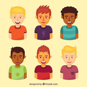 Collection of young guys avatars