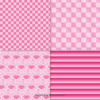 Collection patterns pink