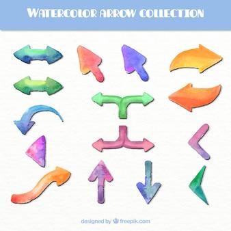 Collection watercolor arrow