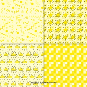 Collection yellow patterns