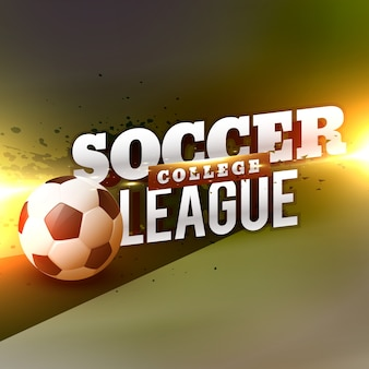 College soccer background