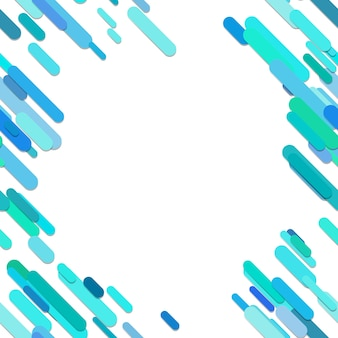 Color abstract rounded diagonal stripe pattern background - vector graphic design from cyan lines