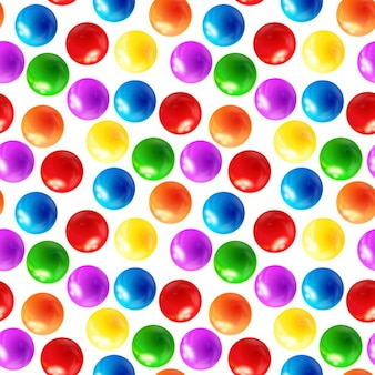 Color balls seamless pattern
