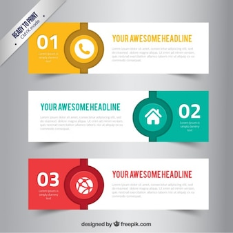 Color banners in abstract style