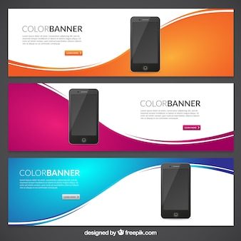 Color banners with mobile phones