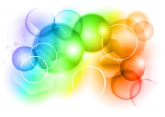 color bokeh vector graphic