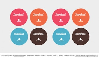 Color download button badges