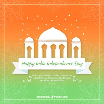 Color gradient background of india independence