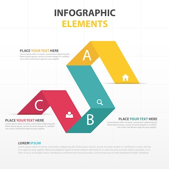 Color infographic elements