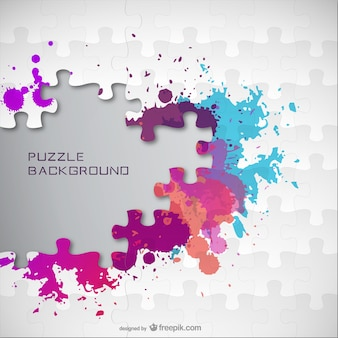 Color splatter jigsaw background