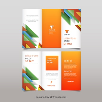 Colored abstract shapes trifold