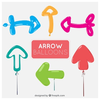 Colored balloon arrows