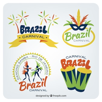 Colored brazilian badges pack