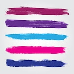 Colored brush strokes collection