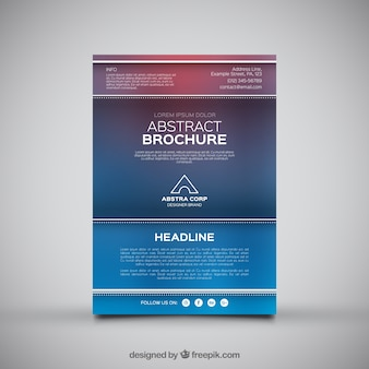 Colored business leaflet with blurred effect