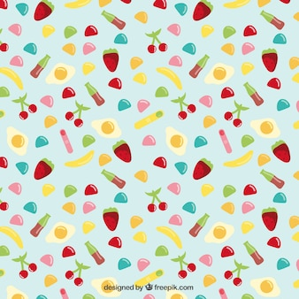 Colored candies pattern