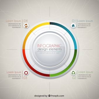 Colored circle infographic