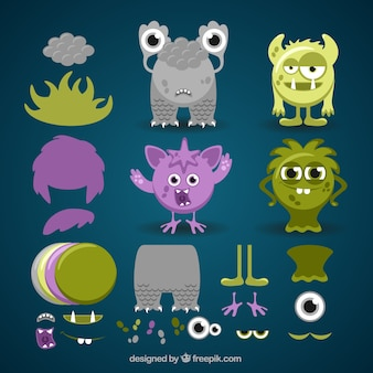 Colored customizable monster