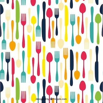 Colored cutlery background