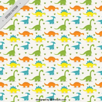 Colored dinosaurs pattern