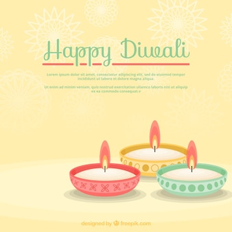 Colored diwali candles background