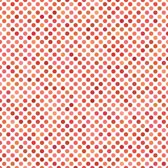 Colored dot pattern background - geometrical vector graphic from red circles