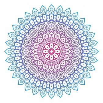 Colored floral shape