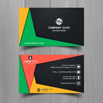 Colored geometric business card