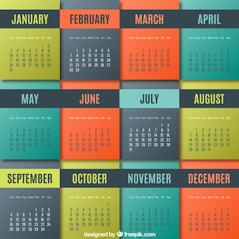 Colored geometric calendar