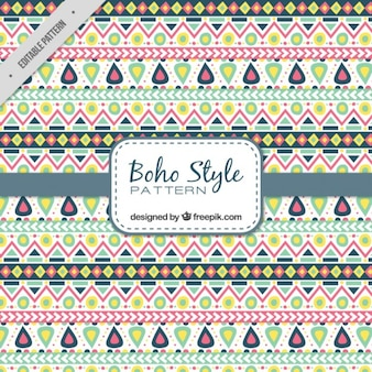 Colored geometric shapes pattern in boho style