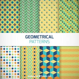 Colored geometrical patterns pack