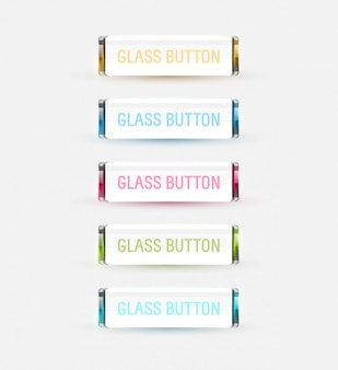 Colored glass buttons collection