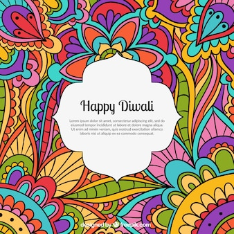 Colored happy diwali background