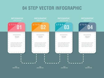 Colored infographic with four steps