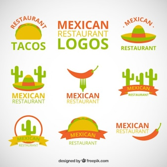 Colored logotypes for mexican restaurant