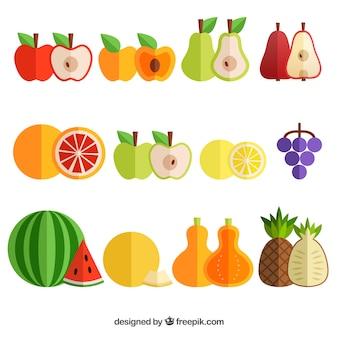 果物の異なる種類の色パック