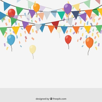 Colored party bunting