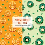 Colored patterns with summer fruits