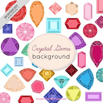Colored precious stones background