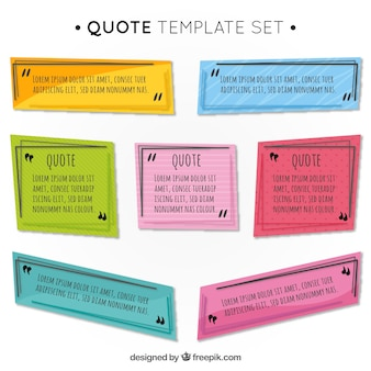 Colored quote templates