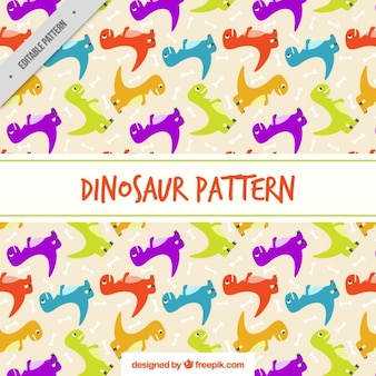 Colored rex dinosaur pattern