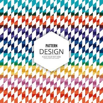 Colored rhombus pattern