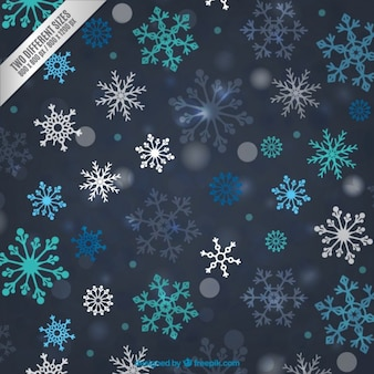 Colored snowflakes background