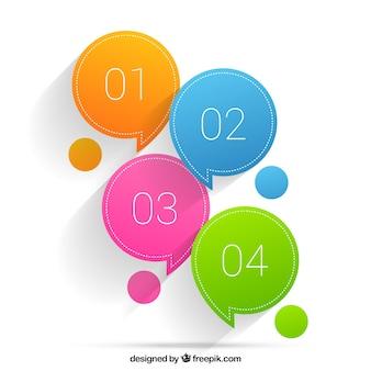 Colored speech bubbles