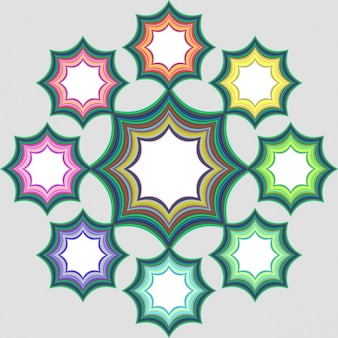 Colored stars frames
